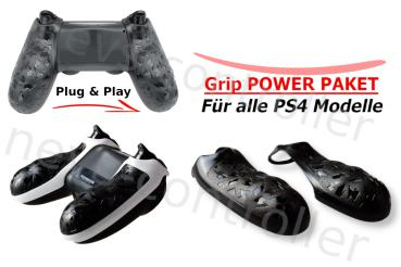 PS4 Controller Power Grip Griffe | Plug & Play