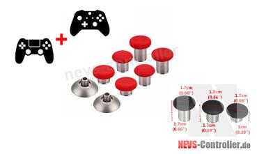 Elite Thumbstick Set 8 in 1 - Rot
