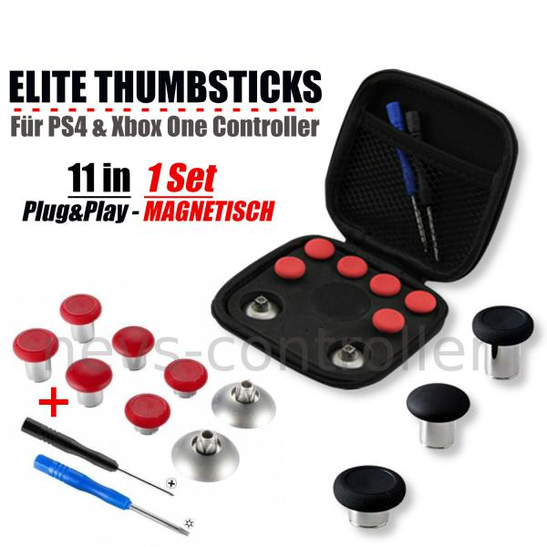 Artikelbild AIM Elite Thumbsticks rot