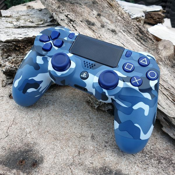 PS4 Camouflage Blue Case | Modell JDM-040