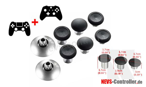 Elite Thumbstick Set 8 in 1 - Schwarz